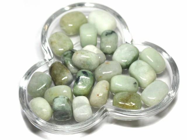 【天然石 置き石】タンブル型 (小) 本翡翠 50g ※...