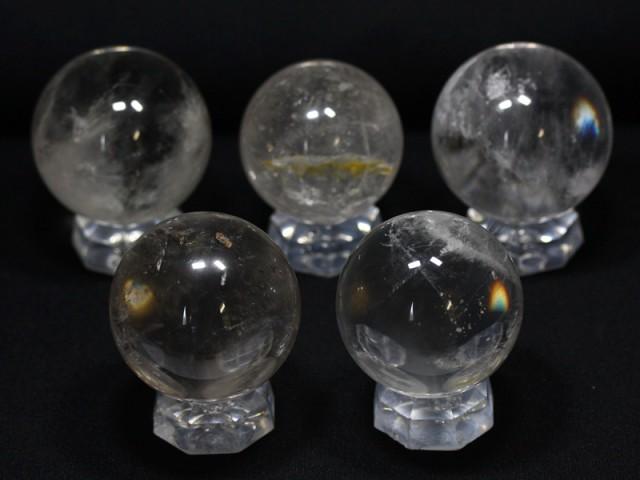 【天然石 置き石】丸玉 約50〜55mm 水晶 (1玉売り...