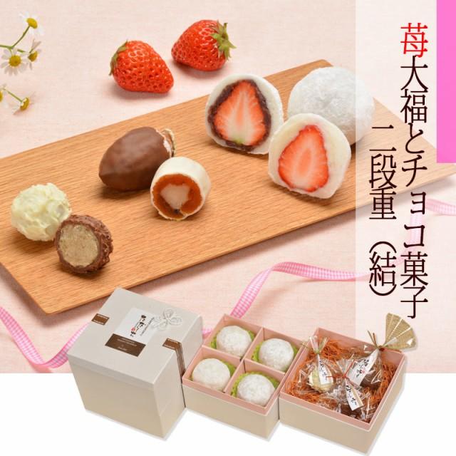 苺大福とチョコ菓子【結】二段重7個入り/2/