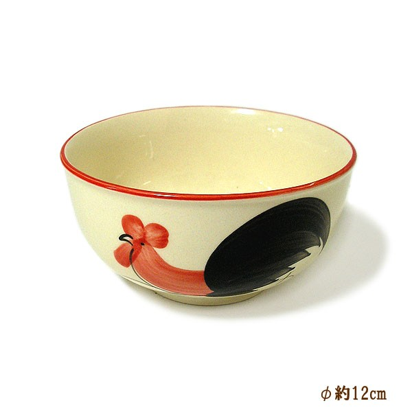 にわとり柄のお茶碗 小鉢 サラダボウル [直径1...