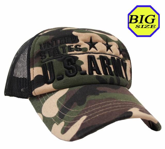 【大きいサイズ帽子 メンズ 65cm】U.S.ARMY刺繍迷...