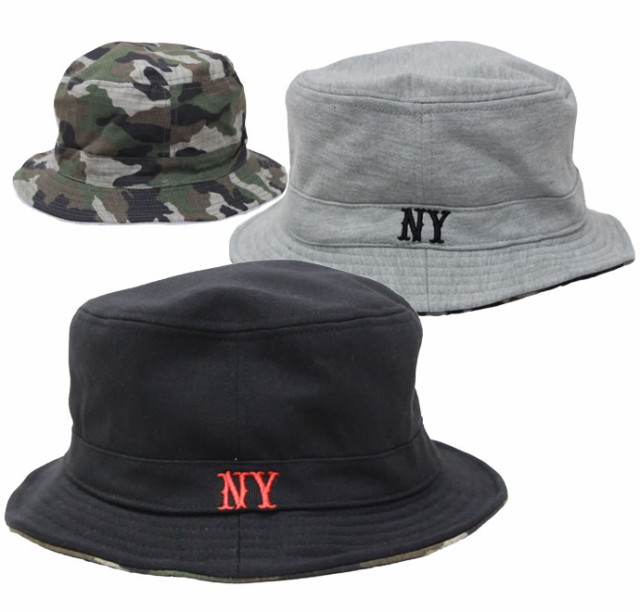 NYスウェット&コットンリバーシブルハット (帽子...