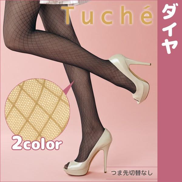 Tuche トゥシェ ダイヤ 柄ストッキング グンゼ TH...