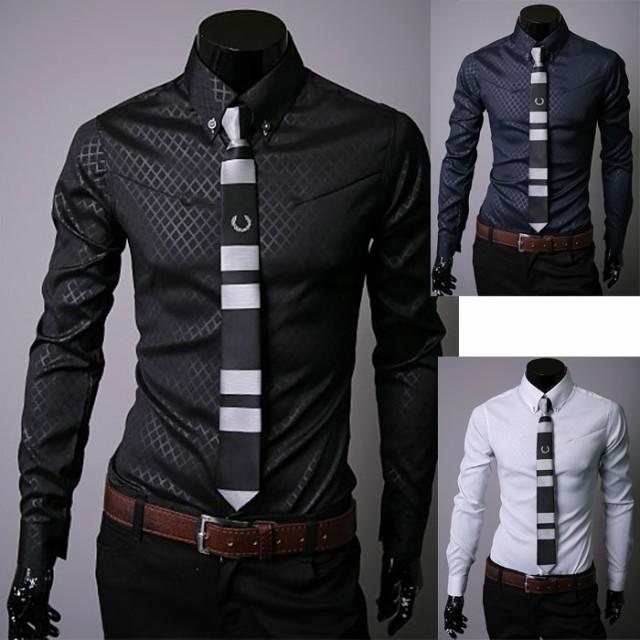 【メンズ 長袖Yシャツ大きいサイズ M-5XL 5色 ...