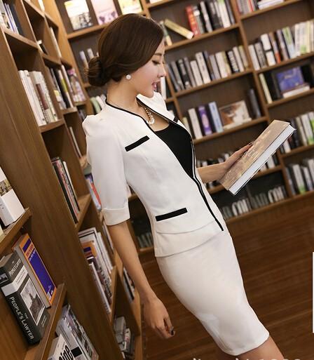 2点セット/オフィススカート+半袖スーツ/レディー...