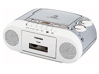 TOSHIBA CDラジカセ カセットテープ録音 CD再生 ...