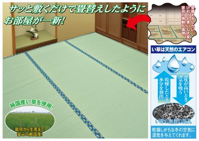 簡単畳替純国産い草上敷(6畳)(50704-000)