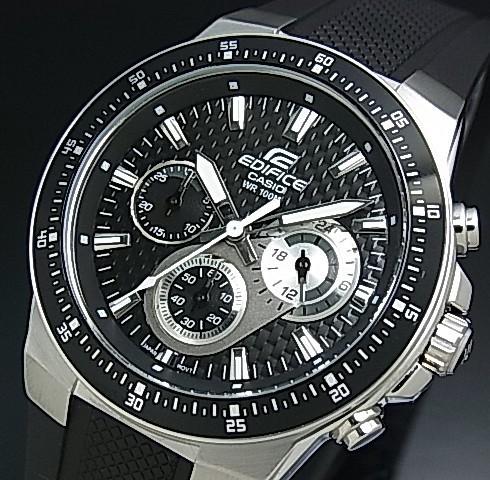 9fe5bd7345 カシオ/エディフィス【CASIO/EDIFICE】クロノグラフ メンズ腕時計 ブラック文字盤 ブラック