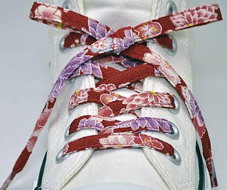和柄靴ひも 柄多数ちりめん靴紐ノーマル おしゃれ...