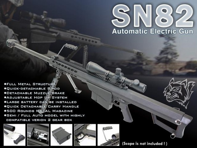 【激安!スナイパーフェア】SNOW WOLF M82-A1 BAR...