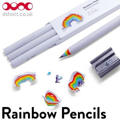 Rainbow Pencils レインボーペンシル 鉛筆 HB 3本...