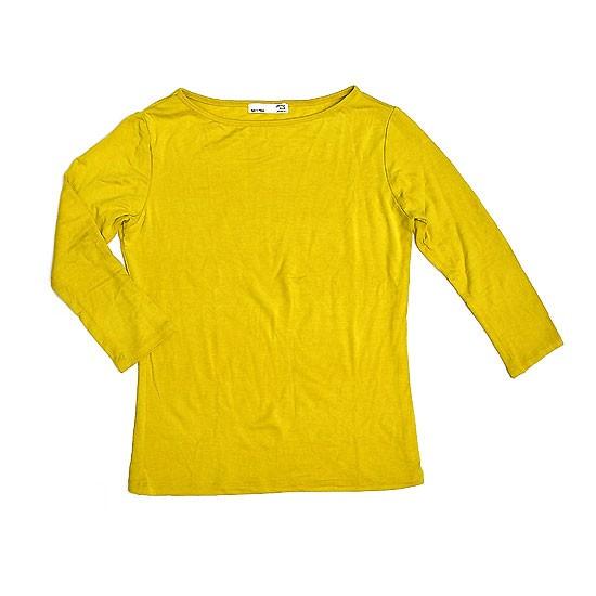 レディース 七分袖 Tシャツ Mサイズ イエロー [着...