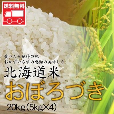 北海道産 おぼろづき20kg(5kg×4)  北海道米 おぼ...