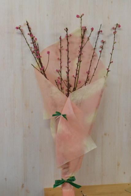 桃の花束 八重咲きの ピンクのお花 お祝い事の...