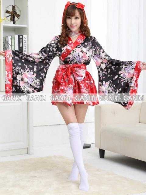 赤い 豪華 花魁 浴衣 着物ドレス 花魁ドレス...
