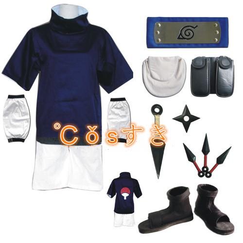 NARUTO -ナルト-うちは サスケ コスプレ衣装 全...