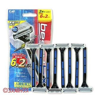 貝印 ベスティーEX (首振り式) bestyEX 6+2本...
