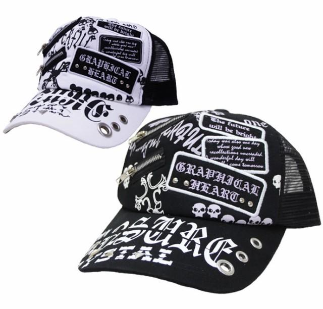 メッシュキャップ◆クールジッパー 帽子 メンズ
