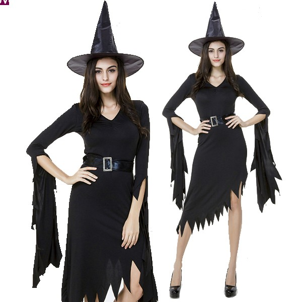 あす楽 黒 ブラック みこ 巫女 ドレス 魔女 コス...