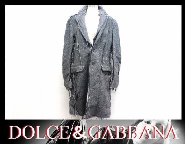 ★D&G ツイード メンズコート ブラック×ホワイト×グレー★