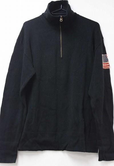 あす着 POLO JEANS COMPANY ポロ ジーンズ カンパニー メンズ ニット セーター L ブラック ギフト プレゼント
