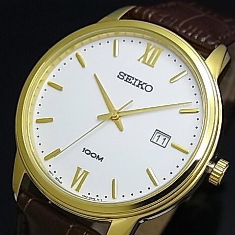 SEIKO/セイコー【クォーツ】メンズ腕時計 ゴール...