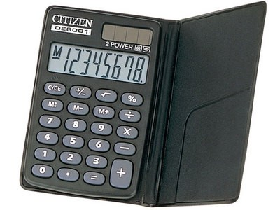 シチズン (CITIZEN) 手帳型電卓 8桁 DE8001Q