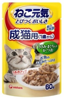 激安特売中【ユニチャーム】ねこ元気パウチ 成猫...