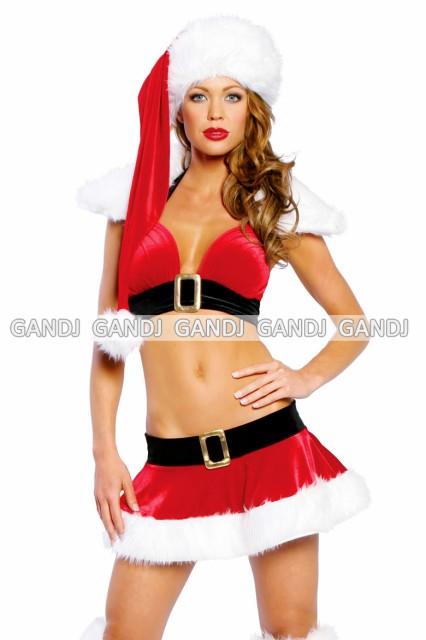 クリスマス セクッシー ミニースカート サンタ衣...