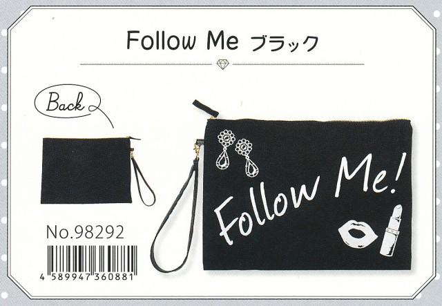 クラッチバッグ かわいいロゴ入り 『Follow me ...