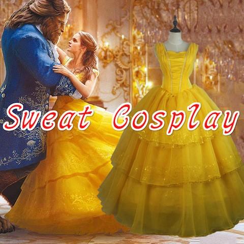 高品質 高級コスプレ衣装 ディズニー 美女と野獣 ...