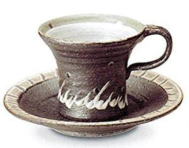 信楽焼 陶器 コーヒーカップ カップソーサー コー...
