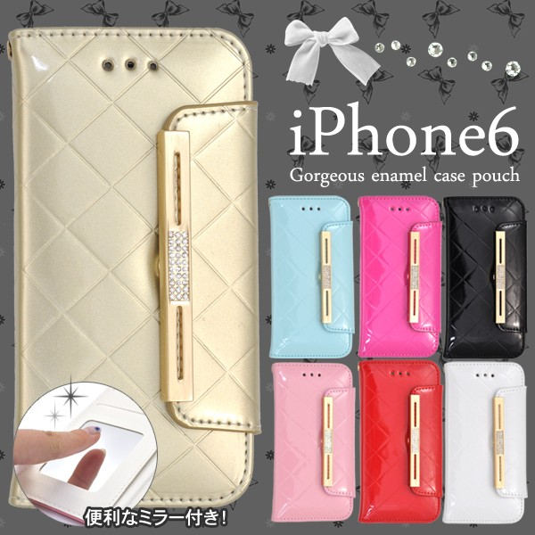 【iPhone6/iPhone6S】手帳型(横開き)ゴージャス...