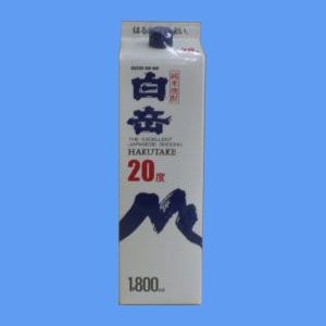 熊本 米焼酎 高橋酒造 白岳 20° 1800ml パック