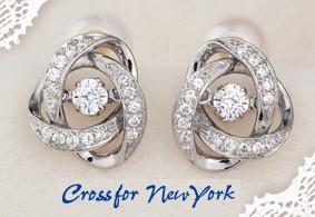 クロスフォーニューヨーク 人気ピアス「Loop 1」...