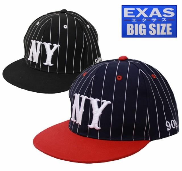 大きいサイズ帽子 メンズ 65cm】ピンストライプNY...