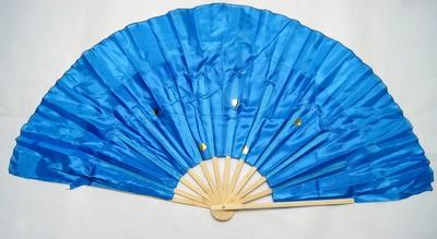 木製 踊り扇子・大(青色) 左手用