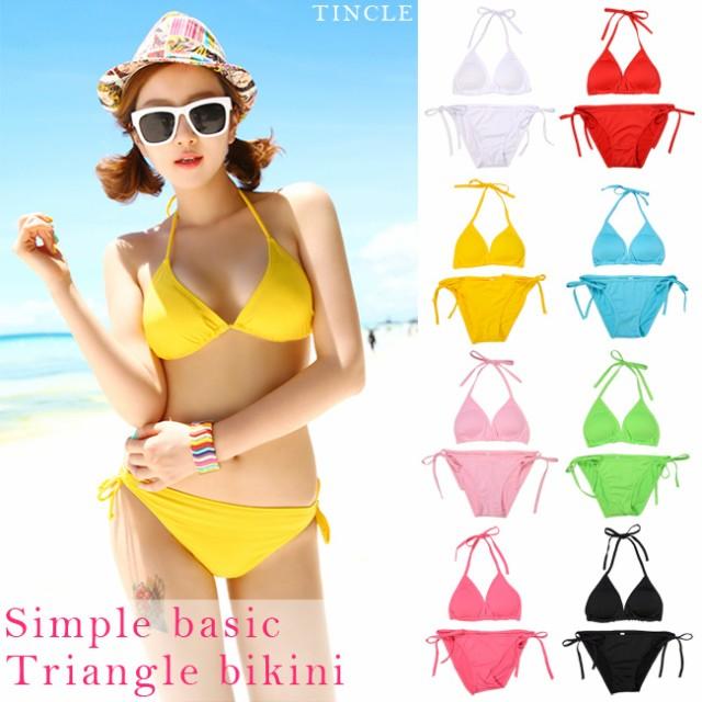8color サマーカラー三角ビキニ シンプル ベーシ...