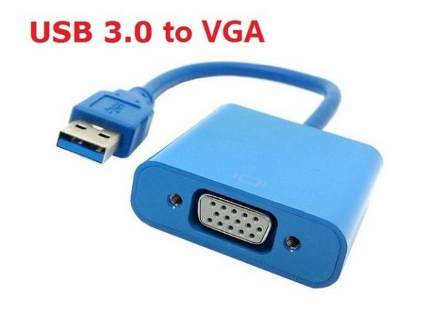 送料無料 USB3.0 Type A to VGA D-Sub 15ピン ア...