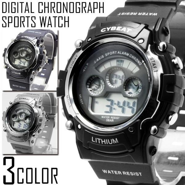 デジタル 腕時計 メンズ 送料無料 1年保証 メンズ...