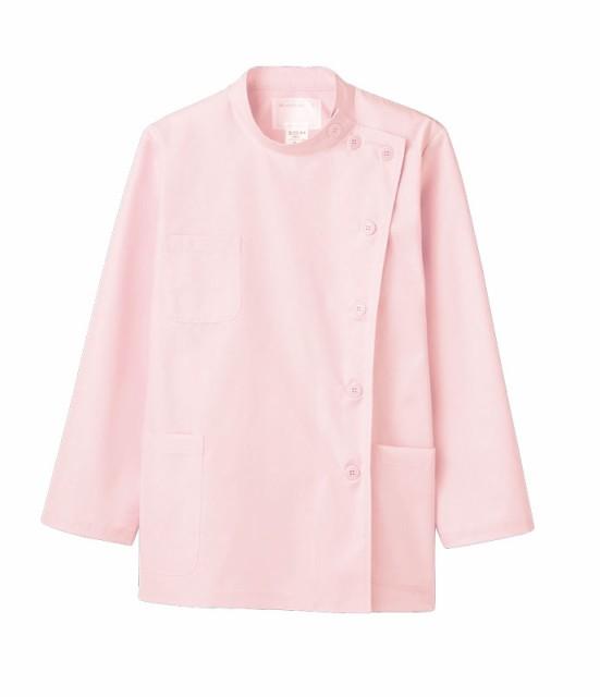 女性用ケーシー型白衣【ピンク長袖】52-003