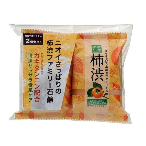 【ペリカン石鹸】ファミリー 柿渋石鹸 80g×2個【...