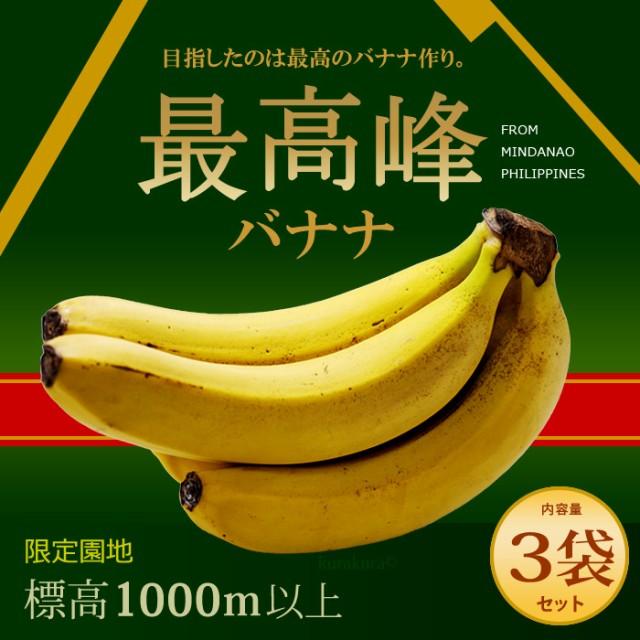 最高峰バナナ(約700g×3袋)フィリピン産 バナナ ...