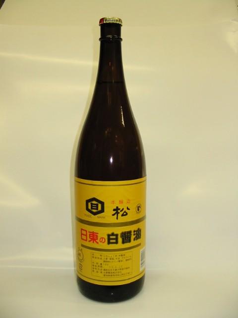 日東醸造 本醸造白醤油 松印  1.8L 瓶入り