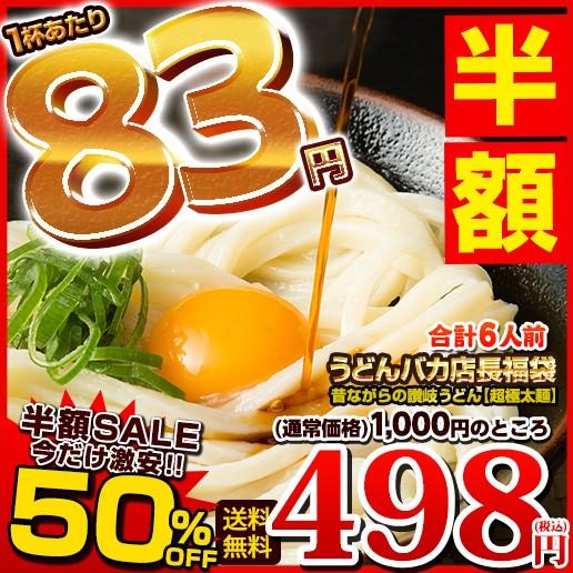 【SALE】【半額SALE】送料無料 本場讃岐うどん 合...