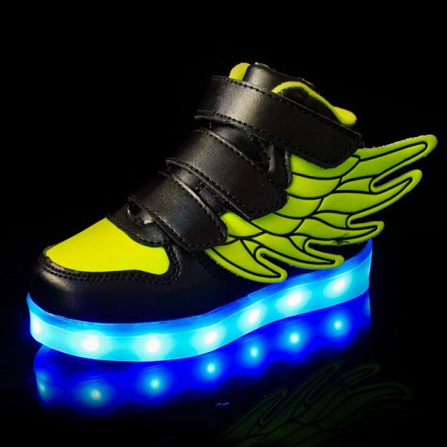 ジュニア LEDスニーカーシューズ 光る靴 子供用...