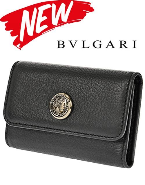 NEW!!! ブルガリ キーケース 35945 GRAIN/BLK...