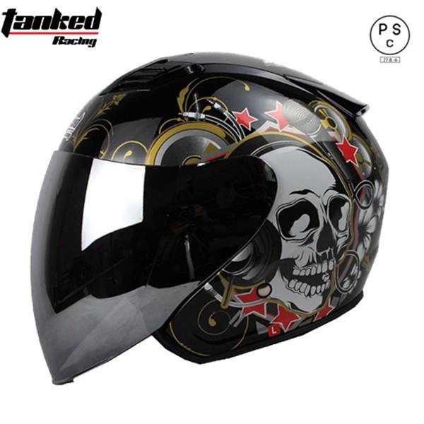 バイク ヘルメット バイク用 ジェット 3/4ヘルメ...