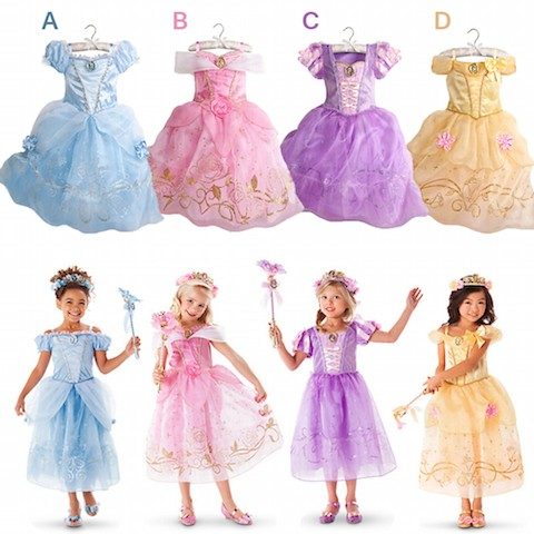 daf05bc5944ad 高品質 高級コスプレ衣装 ディズニー 塔の上のラプンツェル 風 プリンセス ドレス 子供サイズ