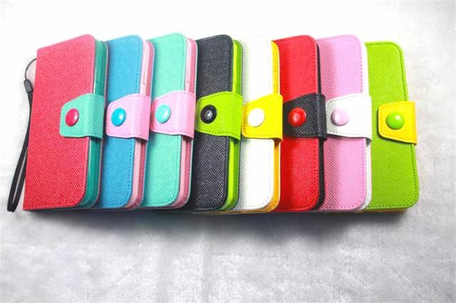 iPhone6/ 6Plus カラフルレザー手帳型ケース 全8...